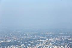 Pollution atmosphérique dans le du nord de la Thaïlande Image stock