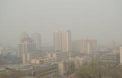 Pollution atmosphérique dans Pékin image stock