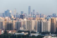 Pollution atmosphérique de Pékin Photo libre de droits