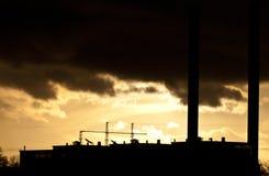 Pollution atmosphérique industrielle Photo libre de droits