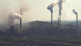 Pollution of the Atmosphere by an Industrial Enterprise of the Metallurgical Industry. stock video
