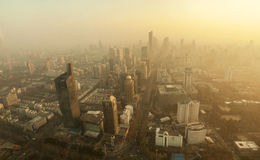 Pollution au-dessus de la ville Image libre de droits