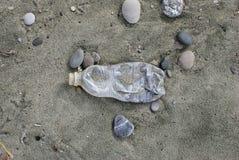Pollution on the beach Royalty Free Stock Photos