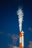 Pollution blanche de fumée Image stock