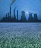 Pollution - blur. Pollution from a power plant Stock Photo