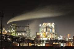 Pollution from chemical industry royalty free stock photo