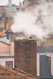 Pollution from a chimney Stock Photography