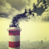 Pollution chimney concept Royalty Free Stock Photography