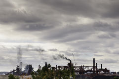 Pollution chimney Stock Photos