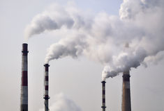 Pollution ,Chimney Smoke Royalty Free Stock Photo