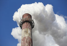 Pollution,Chimney Smoke Royalty Free Stock Image