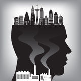 Pollution in the city Royalty Free Stock Image