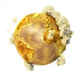 Toxic planet with clouds. Stock Images