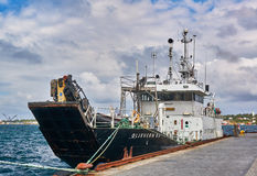 Pollution control vessel Stock Images