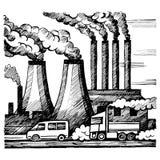 Pollution d'air et de l'atmosphère d'écologie Image libre de droits