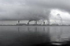 Pollution d'environnement par la centrale Image libre de droits