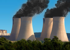 Pollution d'industrie Image stock