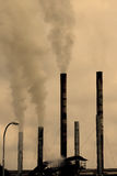 Pollution d'usine Image stock