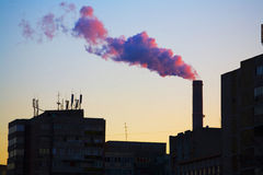 Pollution d'usine Photos stock