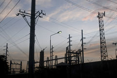 Pollution dans la ville Photo libre de droits
