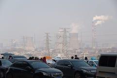 Pollution dans la ville Images stock