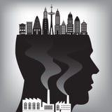 Pollution dans la ville Image libre de droits
