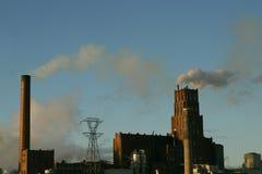 Pollution de cheminée image libre de droits