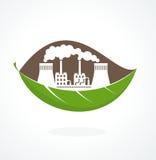 Pollution de concept d'Eco Photos stock