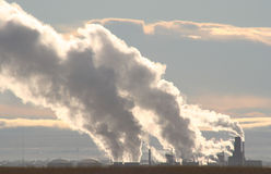 Pollution de début de la matinée Image stock