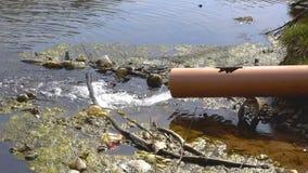 Pollution de l'eau de l'étang clips vidéos