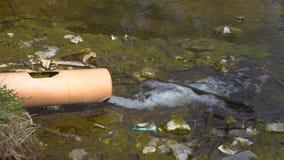 Pollution de l'eau dans l'étang clips vidéos