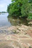 Pollution de lac Photo stock