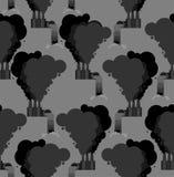 Pollution de modèle sans couture d'environnement Plante le fond Fa illustration stock