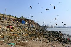 Pollution de Mumbai Photo libre de droits