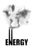 Pollution de pouvoir Image stock