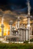 Pollution de station de centrale Photos stock