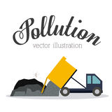 Pollution design,vector illustration. Royalty Free Stock Photo