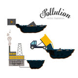 Pollution design,vector illustration. Stock Image