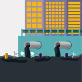 Pollution design,vector illustration. Royalty Free Stock Photography