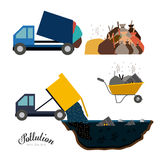 Pollution design,vector illustration. Royalty Free Stock Photos