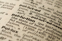 Pollution Dictionary definition Stock Photography