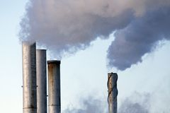 Pollution discharge industry Stock Image