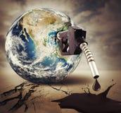 Pollution du monde image libre de droits