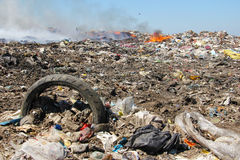 Pollution, dumping des ordures Photo libre de droits