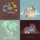 Pollution ecology concept Royalty Free Stock Photos