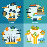 Pollution And Ecology Set Stock Images