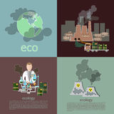 Pollution ecology smog risk plants smoke recovery garbage waste Royalty Free Stock Photography