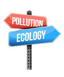 Pollution ecology street sign illustration Stock Photos