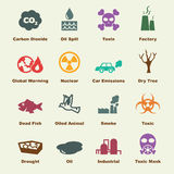 Pollution elements Stock Image