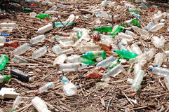 Pollution en plastique Images libres de droits